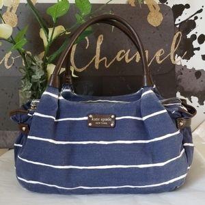 ♠️ Kate Spade New York Canvas Leather Bag